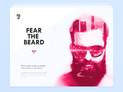 Day 031 - About Card beard the fear hipster bio public widget info card about