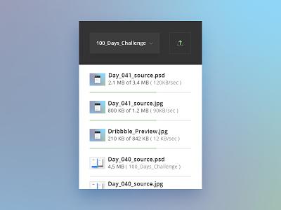 Day 041 - File Upload Widget file storage transfer widget unit folder cloud safe move copy cut