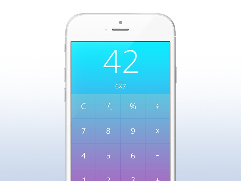 Day 042 - Calculator apple iphone ios application calculator
