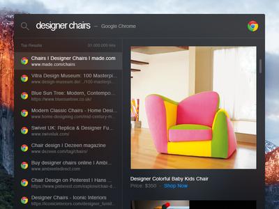 Day 054 - Spotlight Search results chair widget inbox desktop apple osx el capitan small ui interface