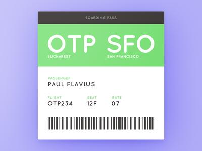 Day 074 - Boarding Pass scanner bar code flight passenger plane ticket pass boarding