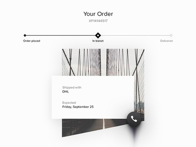 Day 086 - Order Tracking order material ui transit steps info details shipping delivery tracking package