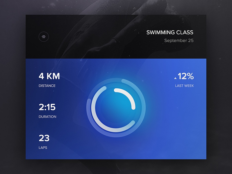 Day 089 - Swimming Activity about stats laps duration distance sports swim activity