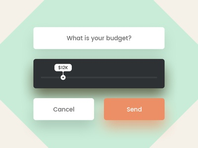 Day 096 - What is your budget? inquire button ui send form slider budget