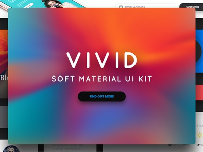 Vivid - Soft Material UI Kit fashion store products forms blogging shopping vivid kit ui material
