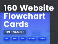 FREE Sample - 160 Website Flowchart Cards