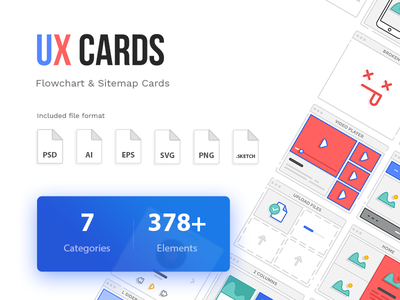 378+ UX Cards icons creativemarket ux ui sitemap cards flowchart