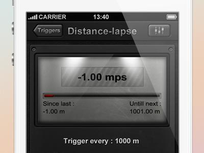 Distance lapse