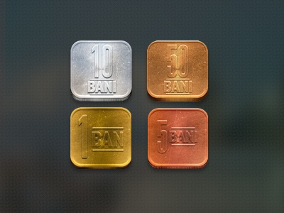 All 4 Coins coin money gold cooper aluminum ios icon