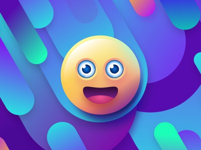 Redesigned my first design meteor drops wallpaper emoticon smiley face smiley