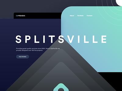 Splitsville agency clean presentation portfolio landing page website