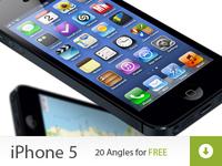 iPhone 5 Mock ups FREEMIUM iphone 5 freebie mock up black white apple 4 free mockup mock-up mockups mock-ups ipad ios ui template
