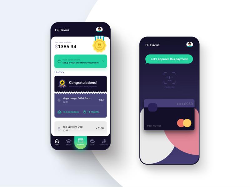 Banking app top up bitcoins crypto virtual money payment app ios ui bank card banking bank