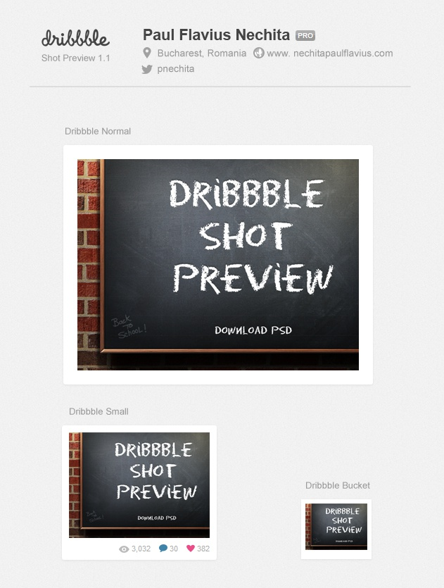 Normal   400x300  dribbble shot template