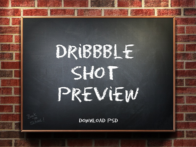 Dribbble Shot Preview 1.1 template shot preview dribbble freebie free freemium psd photoshop