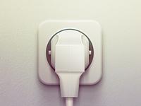 Power Plug in Socket