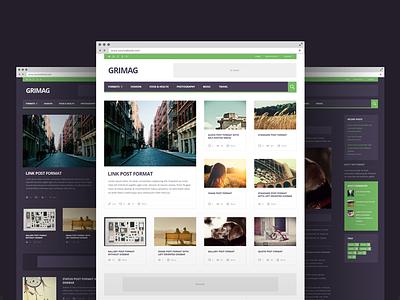 Grimag - Magazine WordPress Theme magazine icons ux ui ad adsense template theme wordpress