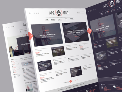 Apemag - WordPress Theme Magazine with Review System review magazine icons ux ui ad adsense template theme wordpress shop woocommerce