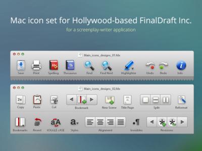 Mac desktop icon set