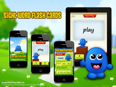 Word Flash Cards game for Children