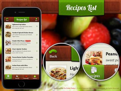 Recipe listing app