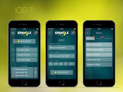 iOS 7 first flat designs