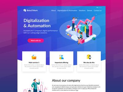 Bots2Work web site