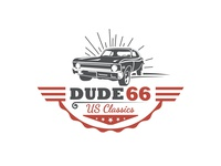 Retro Classic Car Logo