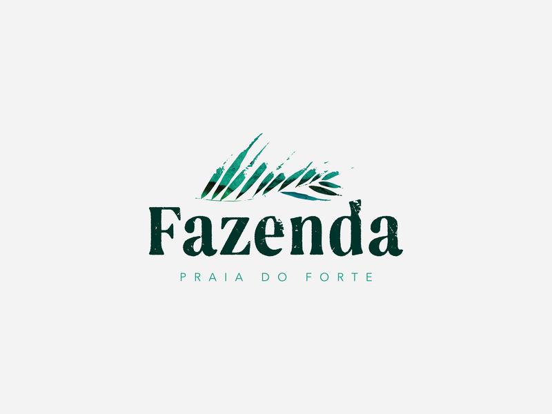 Fazenda brand branding logotype logodesign brasil praia palm logo
