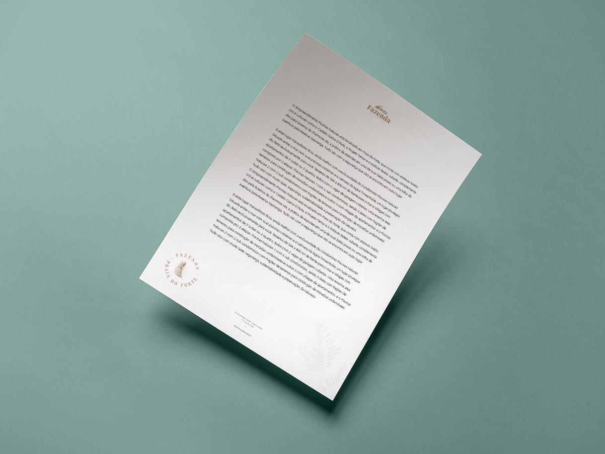 Fazenda letterhead elegant brazil stationery letterhead letter