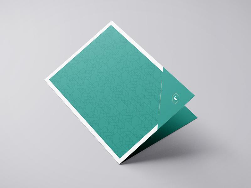 Stationery bifold brand design bifold stationery