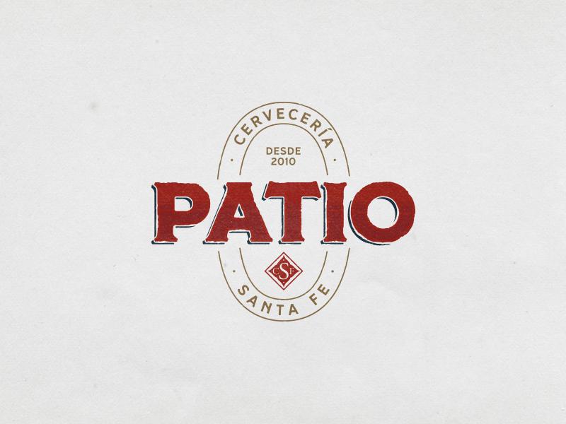 Patio logo brand cerveceria cerveza beer brewery logo brewery