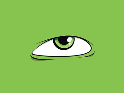 Green eye vector illustration eye green