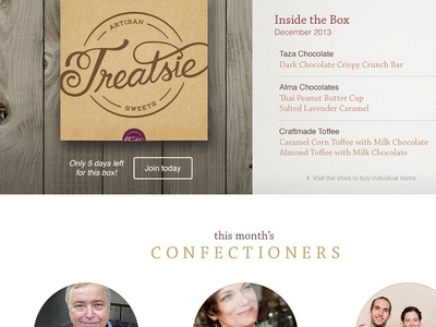 Treatsie Homepage