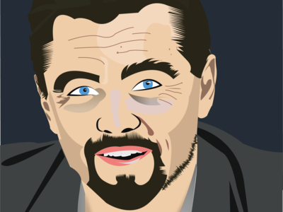Portrait vector of Leonardo Dicaprio