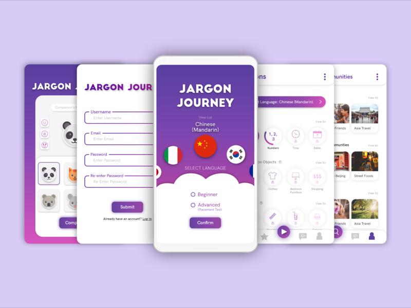 Jargon Journey mockup design careerfoundry ux ui