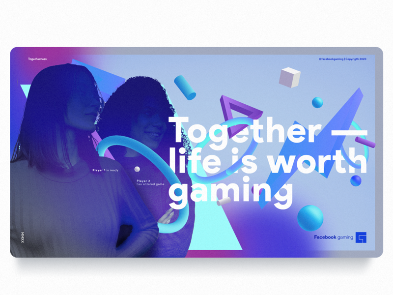 FACEBOOK GAMING - Art direction gaming facebook ad facebook website app web logotype typography vector ui ux illustration branding