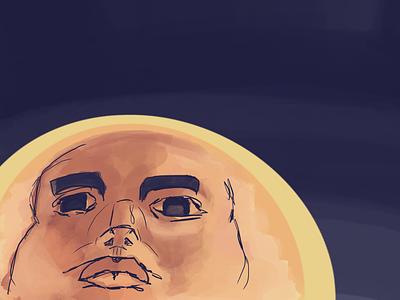 Face illustration isaac craft procreate
