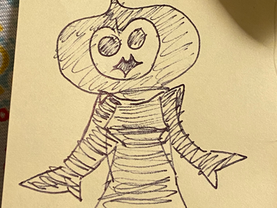 Flatwoods Monster flatwoods. monster cryptozoology drawing sketch illustration crypto isaac craft