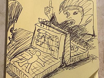 You Got My Human isaac craft drawing sketch illustration