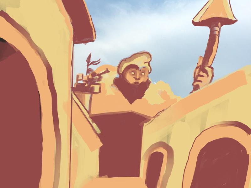 Approaching fantasy procreate art digital art dribbble illustration isaac craft