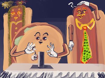 Hamburger, hotdogs, and independence isaac craft fantasy procreate independence hotdogs hamburger