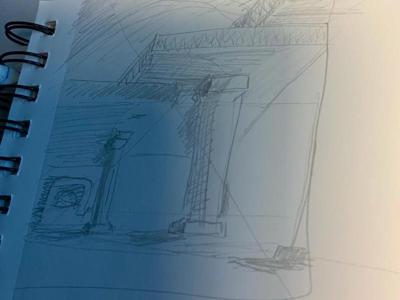 Bizarre Halls fantasy illustration procreate isaac craft