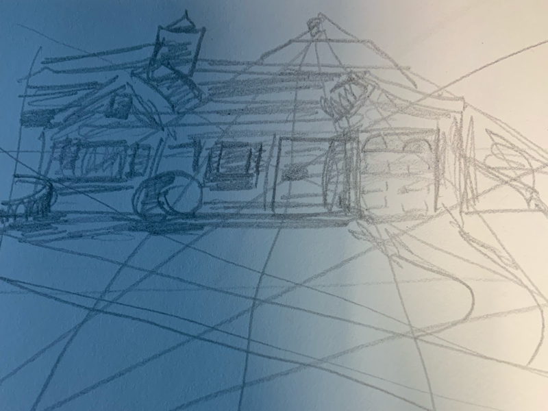 Sketch of my neighbor's house sketch illustration thumbnail isaac craft