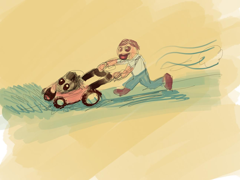Boy and His Mower illustration procreate isaac craft