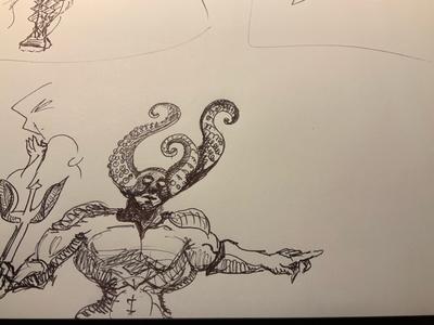 Concept art sketch
