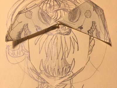 Unsuspecting part B creepy masks exacto blade characters concept art
