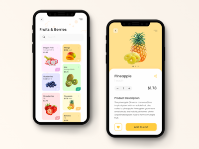 Fruit Shop shop fruit ui design ui today task style iphone mobile inspiration illustration design app design dashboard concept colorful color clean app concept app