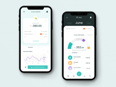 Cost Analytics analytics finance ui design ui today task style mobile iphone illustration inspiration design app design dashboard concept colorful color clean app concept app