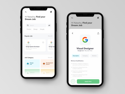 Dream Job job dream ui design ui today task style mobile iphone inspiration illustration design app design dashboard concept colorful color clean app concept app
